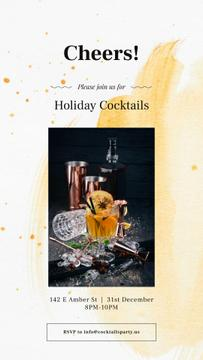 Holiday Cocktails with White mulled wine