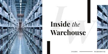 Shelves in warehouse interior