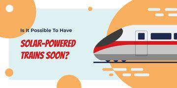 Fast train on rails