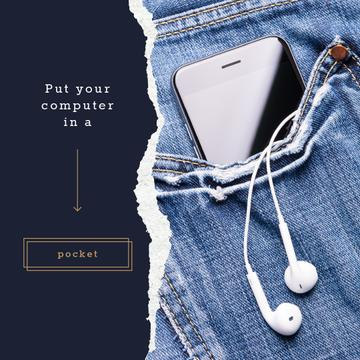 Smartphone in jeans pocket