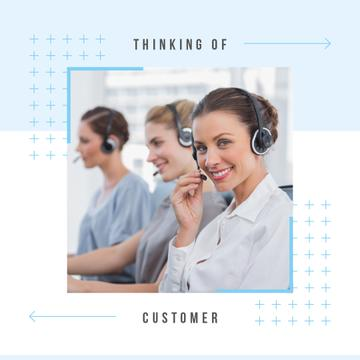 Women working in customer's support