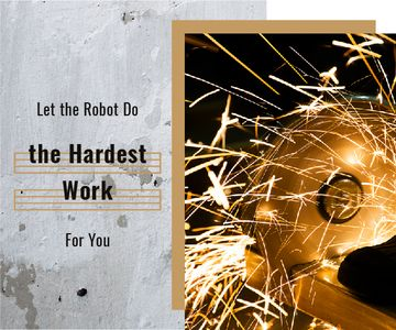 Robotics Quote Sparks in Metal Workshop