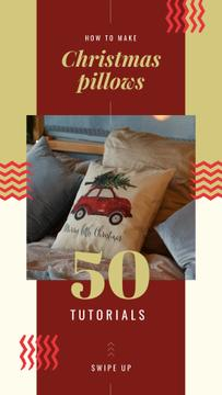 Pillow with Christmas tree