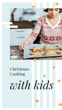 Girl with Christmas ginger cookies