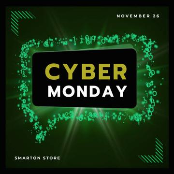 Cyber Monday in Message bubble frame