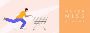Man pushing shopping cart