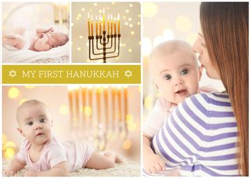 Mother with baby celebrating hanukkah