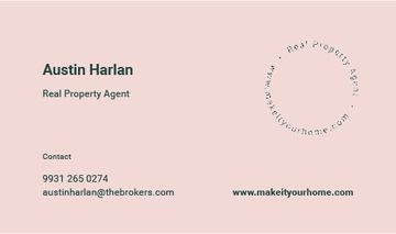 Real Property Agent Letter Logo in Pink