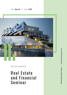 Real Estate seminar ad with Modern house facade