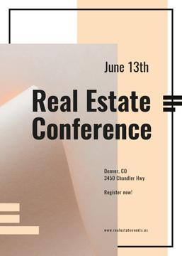 Real estate conference ad on Beige paper