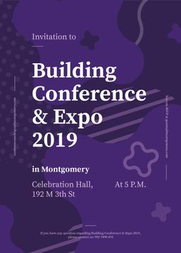 Building Expo ad on Purple lines and blots