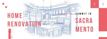 Home kitchen Interior illustration