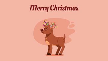 Jumping Christmas deer