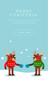Happy deer in Christmas Sweaters