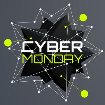Cyber Monday Ad with digital sphere