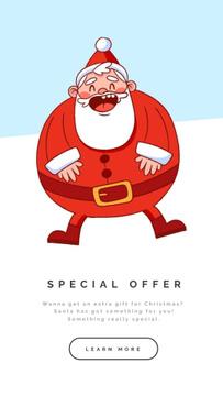 Happy laughing Santa on Christmas
