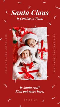 Kids with Christmas gifts