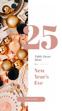 Table Decor Ideas with Shiny Christmas decorations