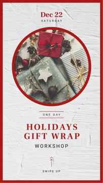 Workshop Annoucement with Christmas gift boxes
