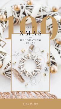 Decorating Ideas with Shiny Christmas wreath