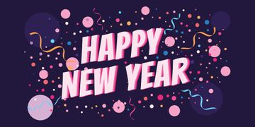 Happy New Year lettering