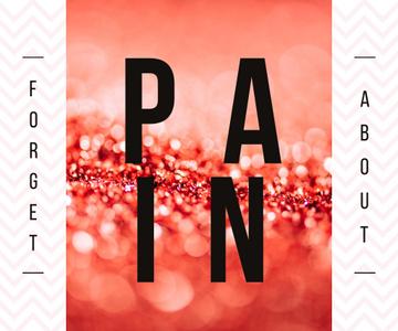 Painkiller Ad on Shiny Glitter Pattern