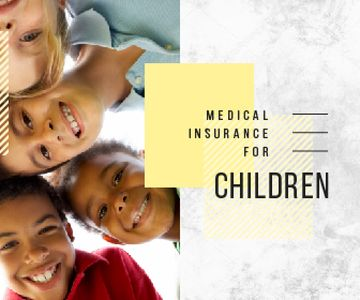 Insurance for Children Happy Kids in Circle