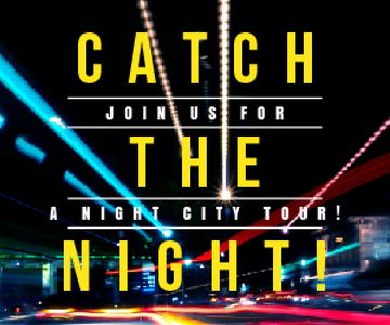 Night City Tour Invitation Traffic Lights