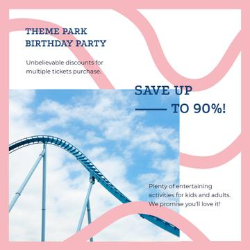 Birthday Party at Amusement park offer
