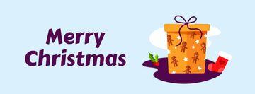 Christmas greeting Gift box