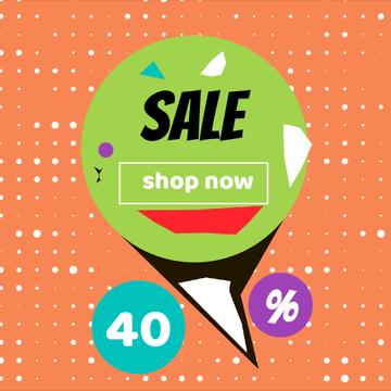 Sale Offer on Colorful geometric pattern
