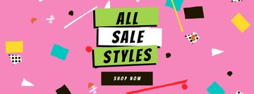 Sale Announcement on colorful geometric Frame