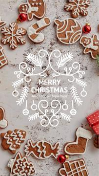 Christmas Greeting Gingerbread Cookies