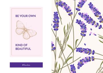 Lavender flowers pattern