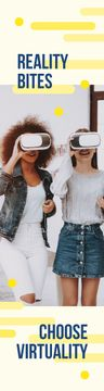 Virtuality Quote Women Using Vr Glasses