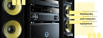Multimedia player and large speakers