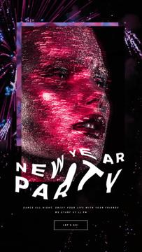 Party Theme with Woman in Neon Light