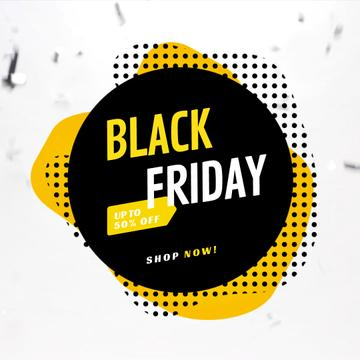 Black Friday Annoucement in black square