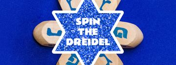 Happy Hanukkah dreidels