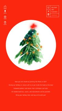 Christmas Greeting with Decorated Tree