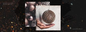 Decor Studio Ad Hands with Christmas Bauble
