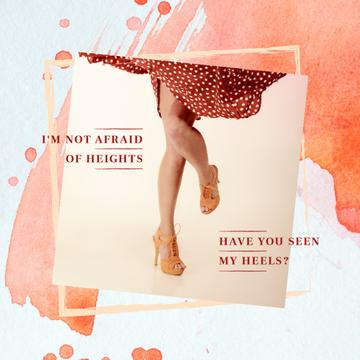 Female legs in heeled shoes