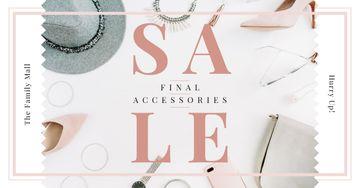 Accessories Sale Fashion Look Composition