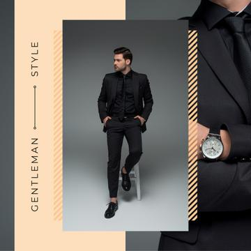 Handsome man wearing Suit and Watch