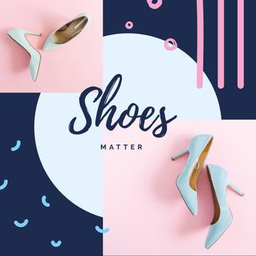 Female Fashionable Shoes in Blue