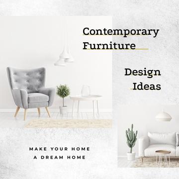 Design Studio Cozy Interior in White Colors