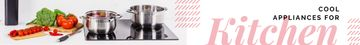 Kitchen Appliances Ad Cooking Tomatoes by Pots on Stovetop