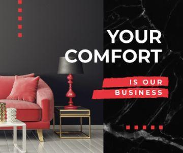 Home Decor Studio Ad Modern Interior in Black