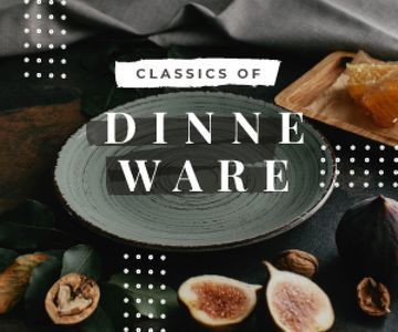 Dinnerware Sale Raw Figs and Nuts by Plate