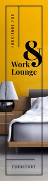 Furniture Ad Cozy Bedroom Interior in Yellow